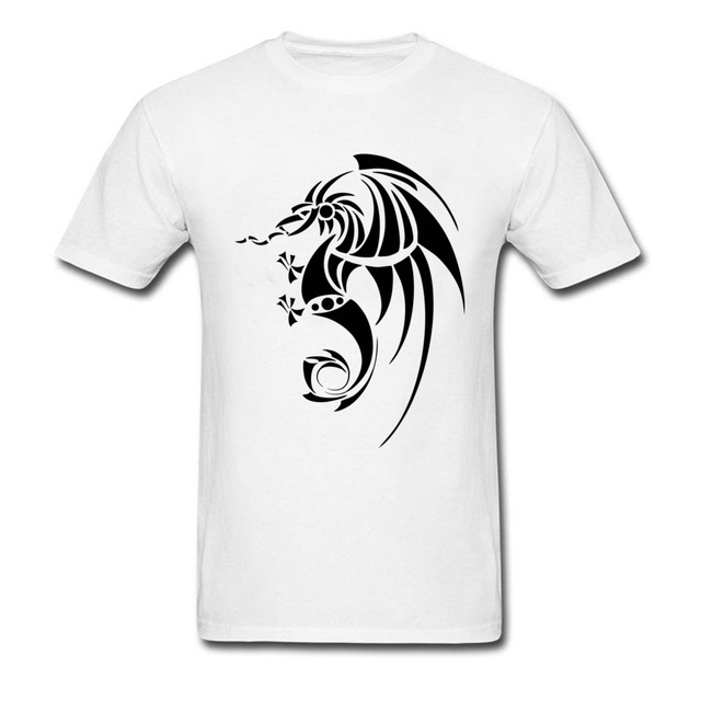 Black Dragon Tattoo T Shirt Men Funny Tshirts Big Size Chinese