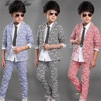Boy kid formal suits boy blazer suit set children boy blazer jacket & pants classic suit for boy suit clothing set