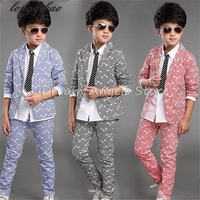 Boy Kid Formal Suits Boy Blazer Suit Set Children Boy Blazer Jacket Pants Classic Suit For