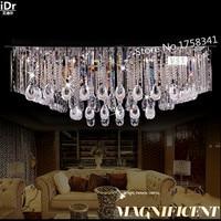 HallCeiling retangular teto LED Quarto lâmpada moderna de cristal de alta qualidade 100% de garantia de qualidade