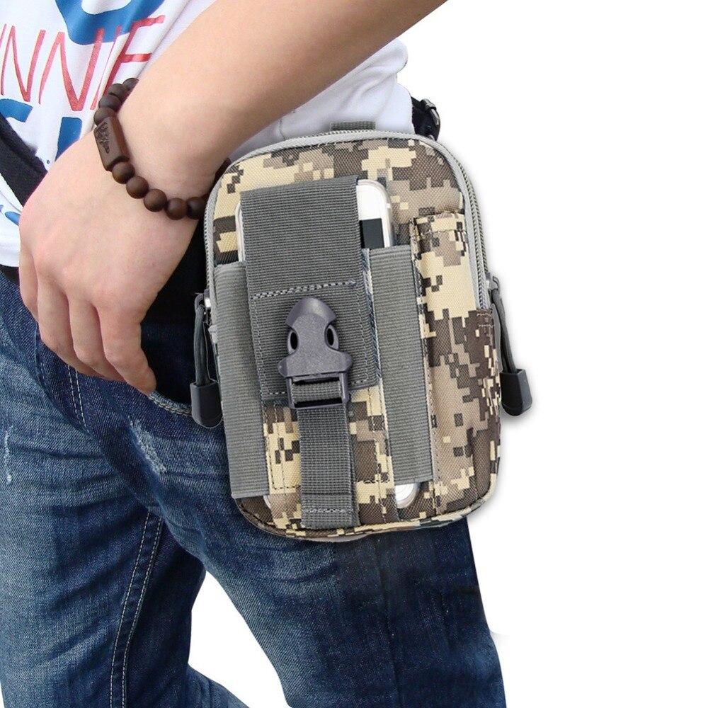 Открытый Отдых Охотничьи сумки сотового телефона Пряжка талии мешок Открытый тактический Молл выживания Инструменты поясная сумка пакет