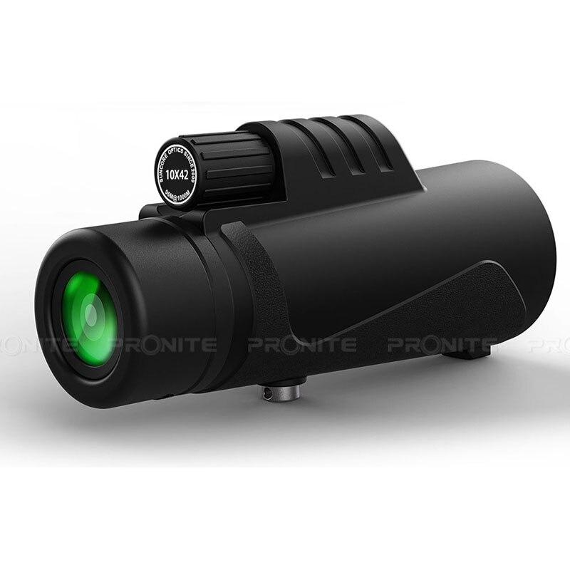 Image 2 - Professional Monocular 10X42 Optics Zoom Telescope HD Scope with Phone Holder Tripod Waterproof Hunting Turizm Opera Spyglass-in Monocular/Binoculars from Sports & Entertainment