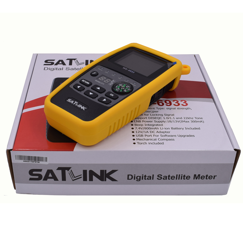 Satlink WS-6933 DVB-S2 Digital Satellite Finder Meter 2.1 Inch LCD Screen Display sf 600 3 4 display dvb s dvb s2 digital satellite finder white black