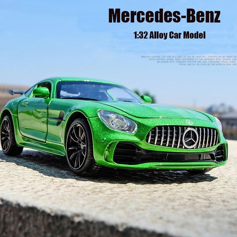 cef27c25a 1:32 سيارات لعبة بنز GTR AMG المعادن لعبة سبائك سوبر سيارة Diecasts & لعبة