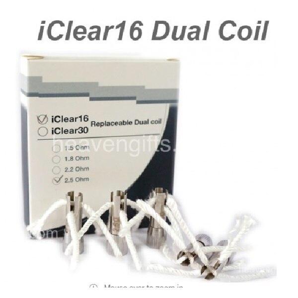 15pcs/lot Original Innokin IClear 16 Coil Head Dual Coil Replacement Atomizer 1.5ohm 1.8ohm 2.1ohm Electronic Cigarette Coil