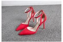 2016 summer new fashion suede high heels pointed fine with sexy high-heeled sandals hollow casual women pumps Oxford