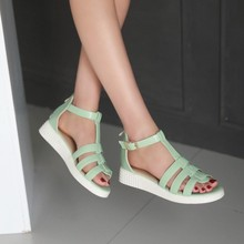2015 fashion women's summer sandals wedges peep open toe strappy platform laidies heels sandals white mint green woman shoes 883