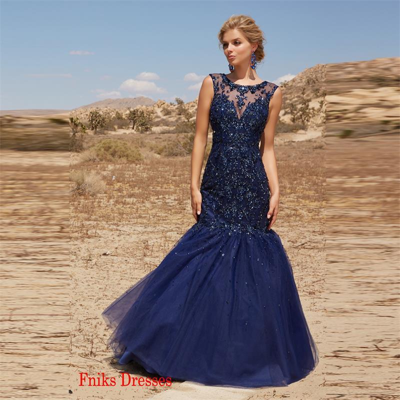 aa25f9fd6 Vestidos largos azul marino 2016 – Vestidos de boda