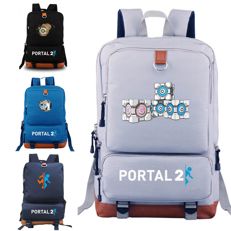 PORTAL 2 backpacks for gift for game fans game concept school bags backpack