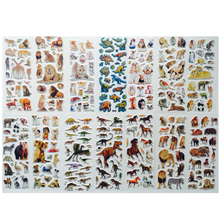 6PCS/lot  Animals Scrapbooking Bubble Puffy Stickers Tigers Lions dinosaur stickers Kids Toys