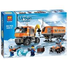 394pcs 2016 BELA 10440 City Arctic Outpost Policemen building blocks Figures Model Toys jail cell Bricks Compatible with