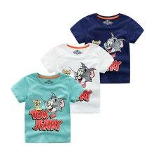 2019 Summer New Boys Short Sleeve T Shirts Cartoon Tom And Jerry T-shirt Boy Kid Toddler Tops Baby Shirt