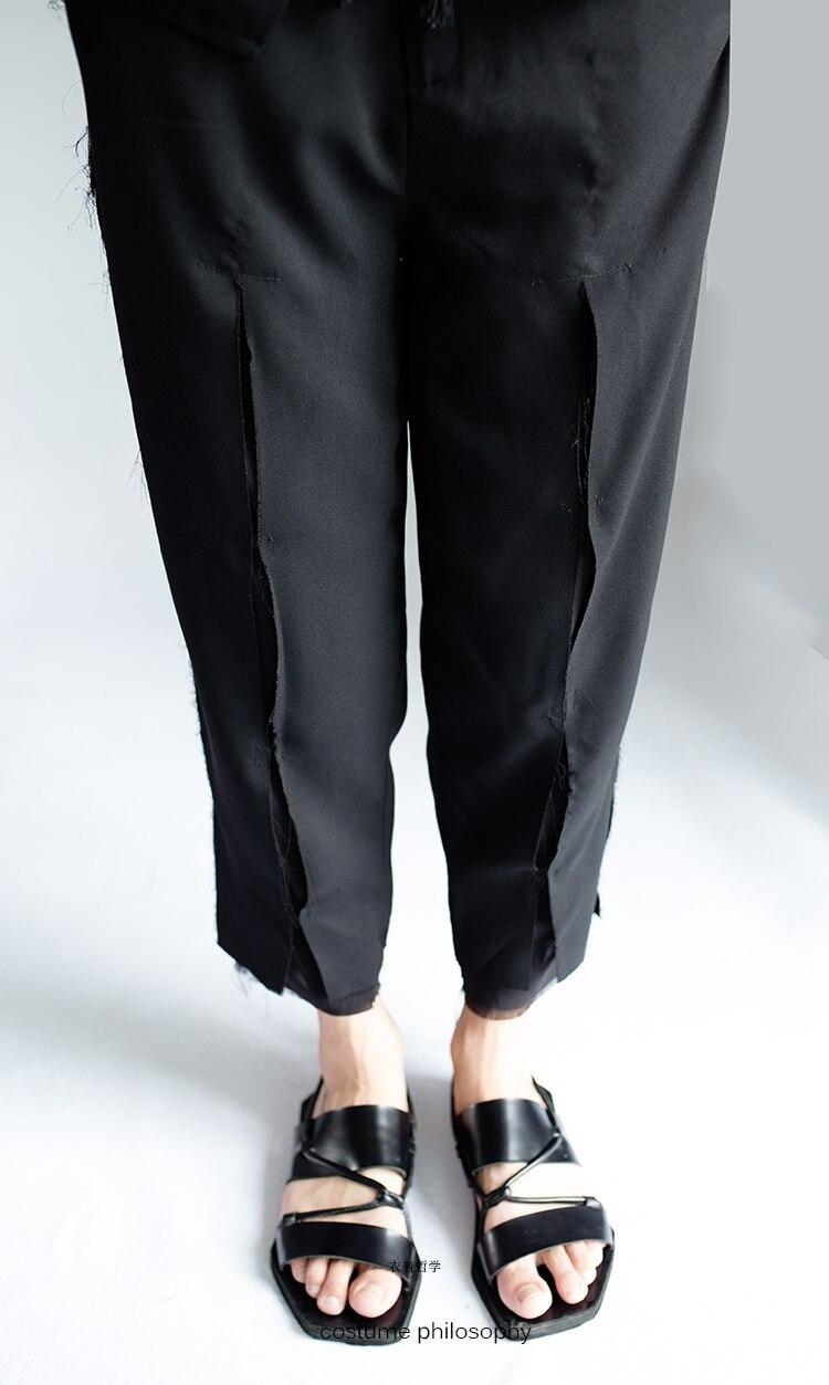 27-44 Frühjahr und sommer dünne männer style brechen die loch casual hosen 9 hosen flut stylist stil doppel männlichen fuß zeigen kleiden