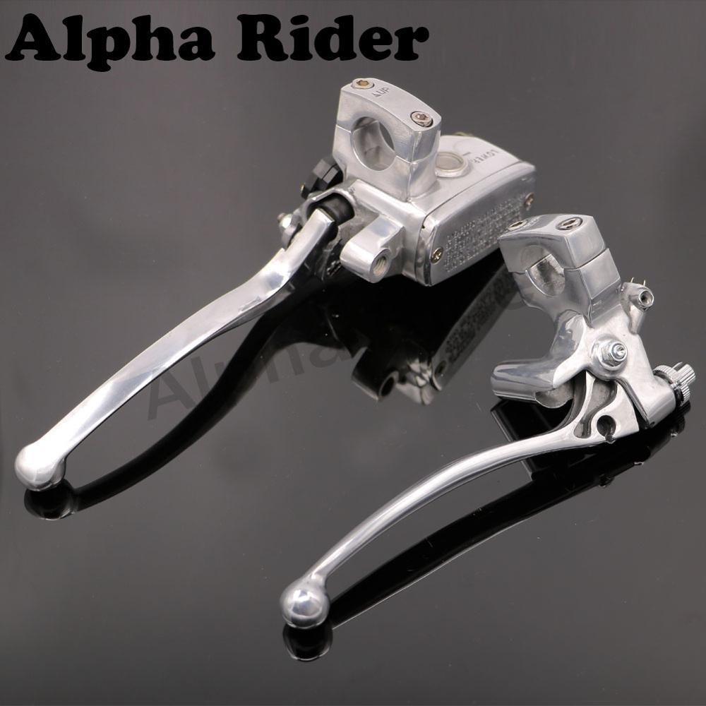 25MM Handlebar Clutch Brake Master Cylinder Reservoir Levers Polished Finished for Yamaha Road Star XV1700A V-Star 250 1100 1300 front rear brake discs rotors for yamaha xvs 1100 v star classic a as 04 05 06 07 08 09 silverado 03 xv 1700 road star warrior