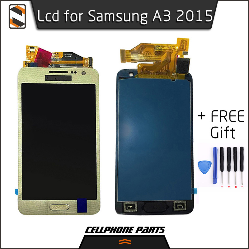 ФОТО LCD for Samsung Galaxy A3 2015 A3000 A3009 A300 A300F A300F/DS A300H A300X LCD Display Touch Screen Digitizer+Home Button Repair