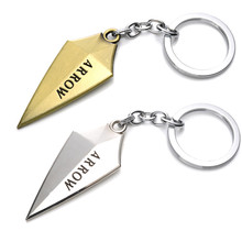 2016 New Arrival Green Arrow Metal Keychain Pendant For Kids Christmas Gift With Action Figure Keychain Fashion Accessories Toys