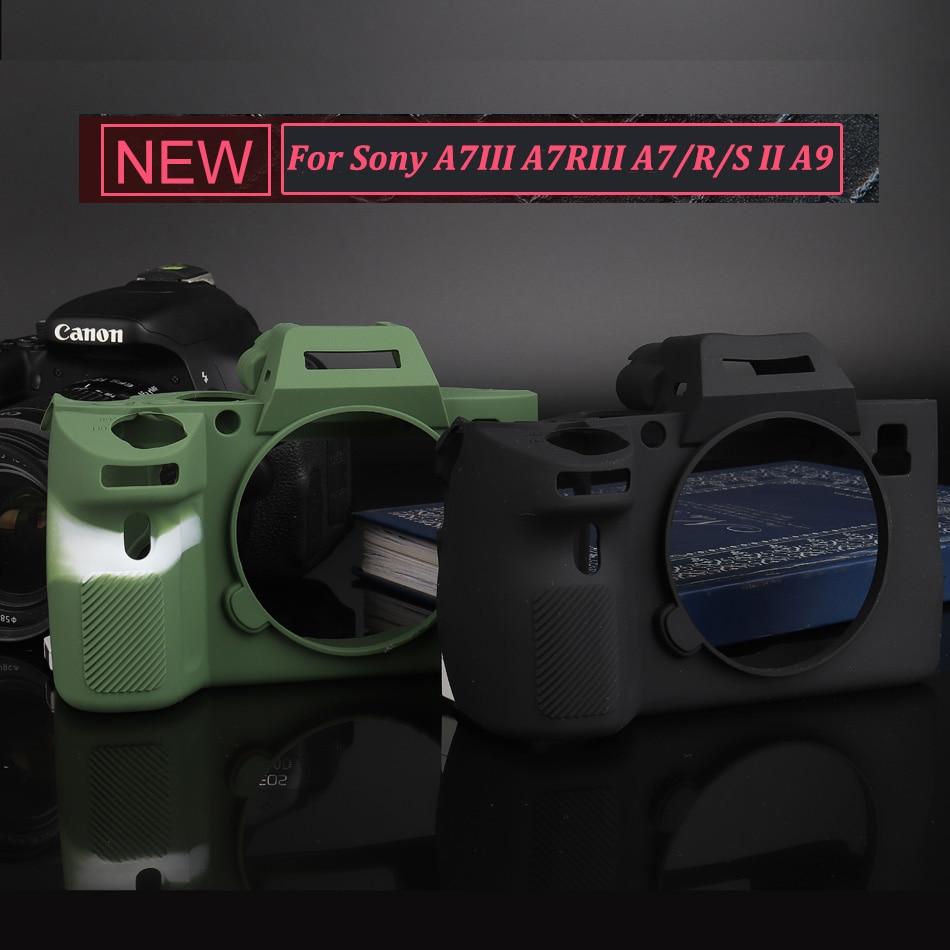 Soft Silicone Rubber Camera Protective Body Case Cover For Sony A9 / A7 III A7R3 A7RIII A7III A7M3 / A7 II A7II A7M2 A7SII A7RII