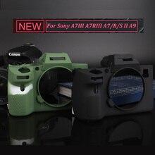 Мягкая силиконовая резина Камера тела защитный чехол для sony A9/A7 III A7R3 A7RIII A7III A7M3/A7 II A7II A7M2 A7SII A7RII