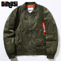 DIMUSI 2017Mens Bomber Jacke Air Force One Patch Designs Slim Fit Pilot Bomber Jacket Coat Men Army Green Military Jacket