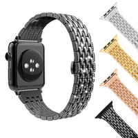 Stainless steel Rhinestone Diamond Strap For apple watch 44/42/40/38mm Luxury Metal Wristband Bracelet For IWatch Series 4/3/2/1