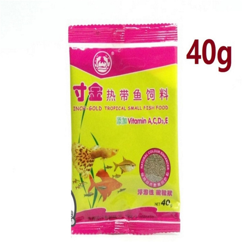 Hot Sale 2019 40g/Bag Package Of Feeding Food Tropical Fish Feed Fish Tank Aquatic Supplies