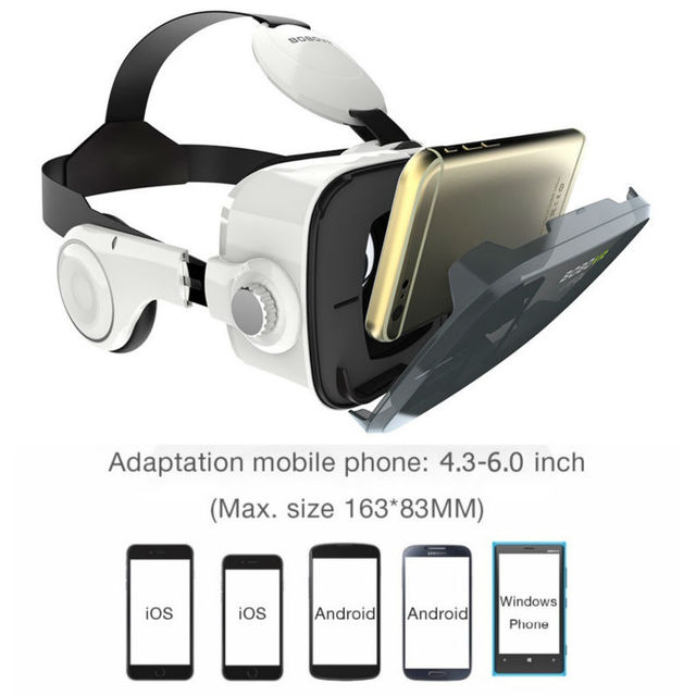 BOBOVR Z4 mini VR BOX 2.0 3D Glasses Virtual Reality goggles google Cardboard bobo vr with headset For 4.3-6.0 inch smartphone