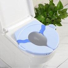 Baby Folding  Seat Children's Foldable Toilet Cushion Seat Portable Folding Potty Training Seat Children Urinal Cushion