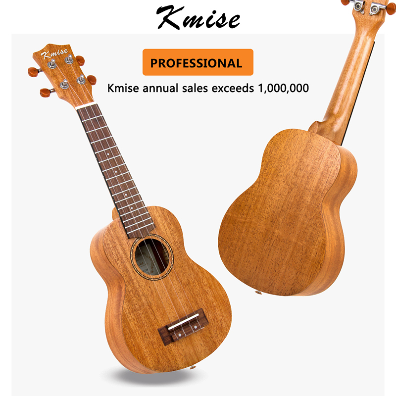 Kmise Ukulele Soprano Concert Tenor Mahogany Ukelele Uke 21 inch 15 Frets 4 String Guitar with Gig Bag Tuner Strap for Beginner 1