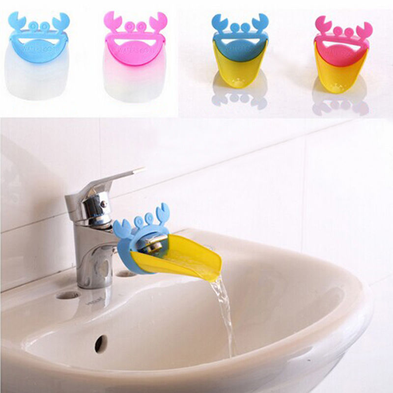 1pc Durable Kid Toddler Baby  Extender Washing Hands Bathroom Sink Lovely Crab Water Reach Rubber Hand Washing Bathroom