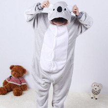 Gray Koala Children Kids Unisex Pajamas  Halloween Christmas Cosplay Costume Animal Onesie Sleepwear For Boys Girls