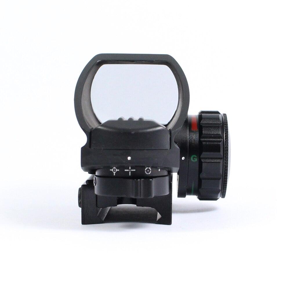 Caça tática reflexo vermelho verde laser 4