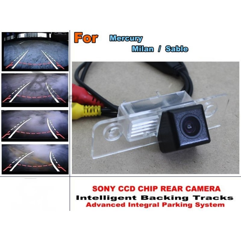 Car Intelligent Parking Tracks Camera / HD Back up Reverse Camera / Rear View Camera For Mercury Milan / Sable