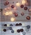 Nova arrivel 20 bolas / set Brown - cinza Tone mixed grande bola de algodão corda do partido luzes de casa pátio de casamento decoração romântica