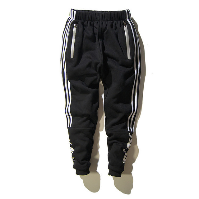 Hombres pantalones ejército khaki negro moda pantalones casuales pantalones de chándal sportssuit hip hop jogger casual estilo militar trousersletter negro