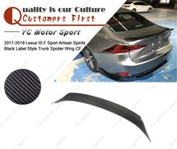 Car Accessories Carbon Fiber ASBL Style Rear Spoiler Fit For 2017-2018 Lexus IS F Sport Trunk Spoiler Wing
