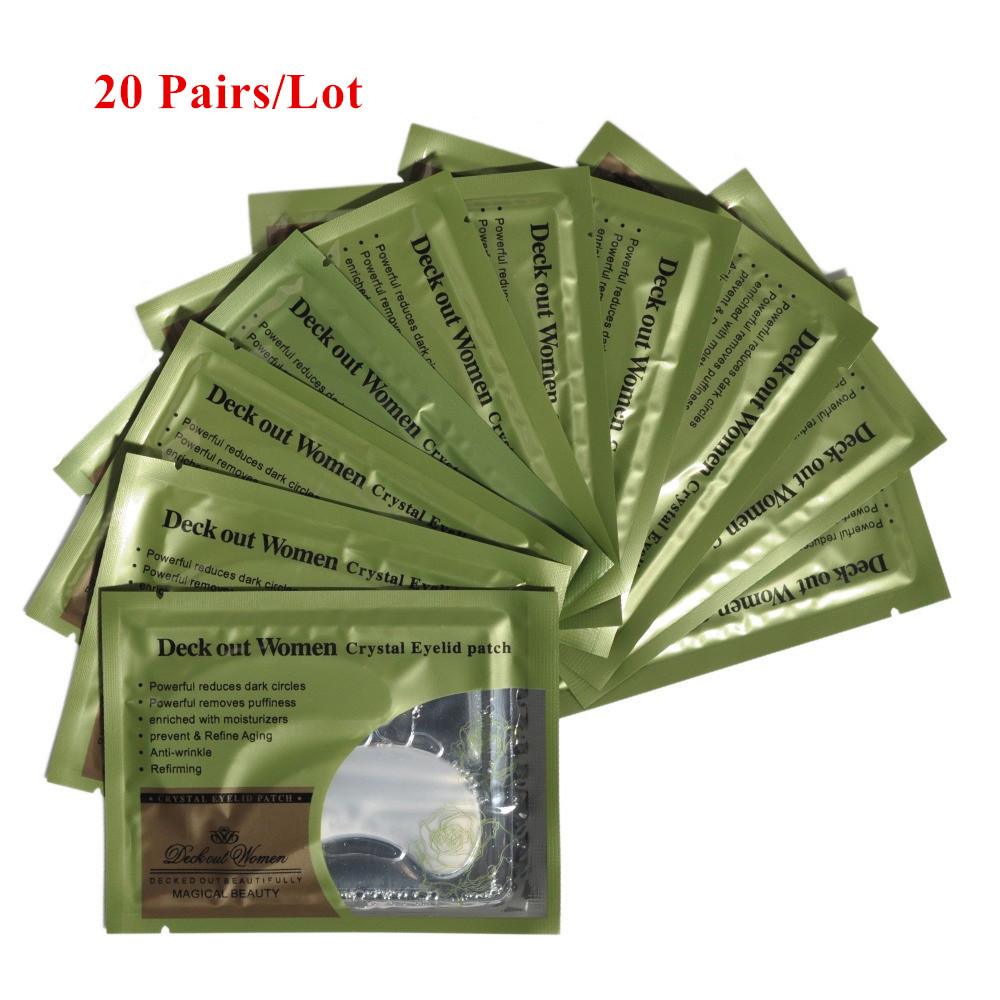 [40pcs/lot] Deck Out Women Crystal Eyelid Patch Anti-Wrinkle Crystal Collagen Eye Mask Remove Black Eye Face care(China)