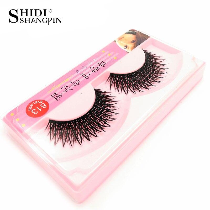 1 pair Eyelashes Long Make Up False Lashes Thick Makeup Fake Eyelashes Eye Lashes Eyelash Extension Free Shipping JK813