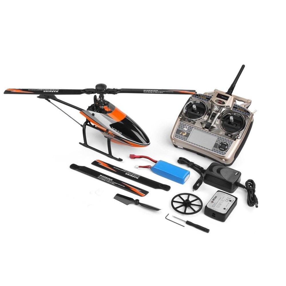 Para WLtoys V950 2.4G 6CH 3D/6G Sistema ligado livremente Alta eficiência Do Motor Brushless RTF Helicóptero DO RC resistência Ao Vento forte