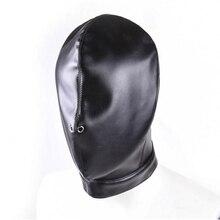 Кожа PU Гуд Маски для век взрослые игры продукты Фетиш полное покрытие глава кабала ограничения с завязанными глазами Косплэй ведомого Секс-игрушки для пары