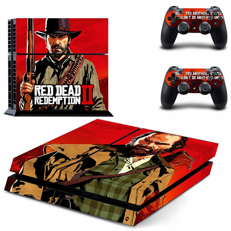 HOMEREALLY Stickers PS4 Skin Game Red Dead Redemption 2 Sticker For Sony Playstation4 Console and Controller Skin Ps4 Accessory in Stickers from Consumer Electronics