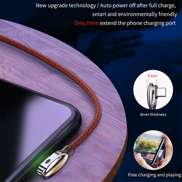 USB Type C Data Cable 3A Quick Charge