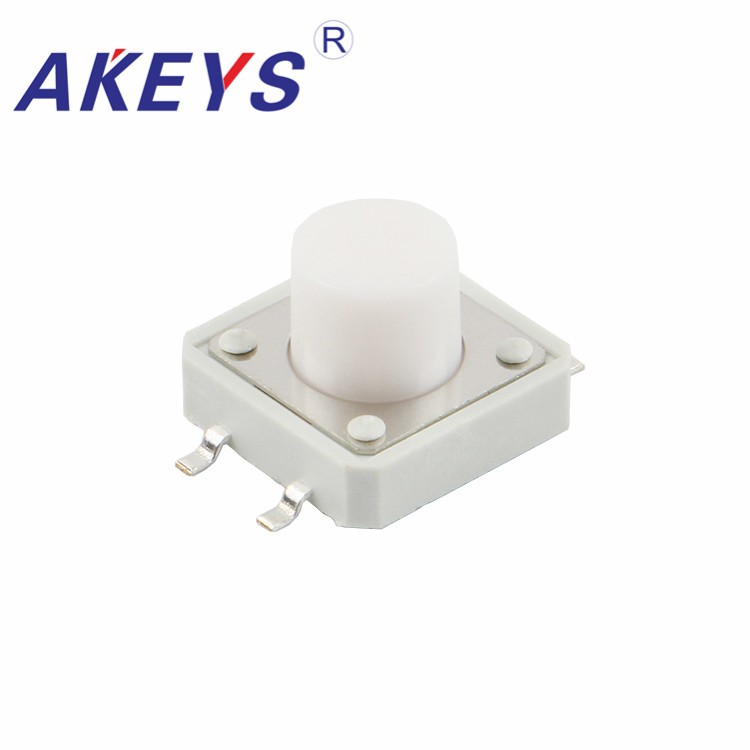 Lighting Accessories Just 100pcs Ts-g003 12*12 White Tactile Switch Smd/smt 4 Pin Copper Pin Pressure Control Switch Extremely Efficient In Preserving Heat