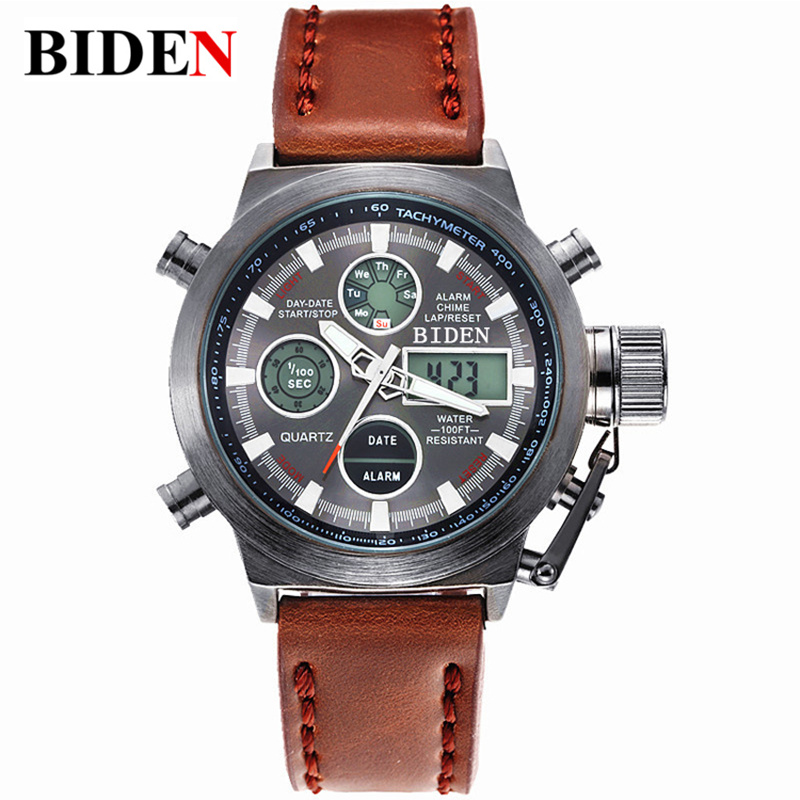 Relogio Masculino 2016 Watches font b men b font luxury brand Sports dive 50m LED Military