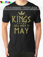 Teeplaza Custom T Shirts Online Short Kings Are Born In May Men Gift O Neck Shirts