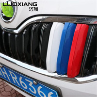 3DCar Styling Front Grille Trim Sport Strips Cover Motorsport Power Sticker For Skoda Octavia A7 2015