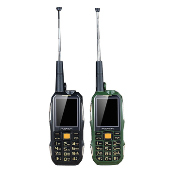 Outdoor Rugged Shockproof Mobile Phone Powerbank unlock cellphone with UHF Hardware Intercom Walkie Talkie Belt Clip