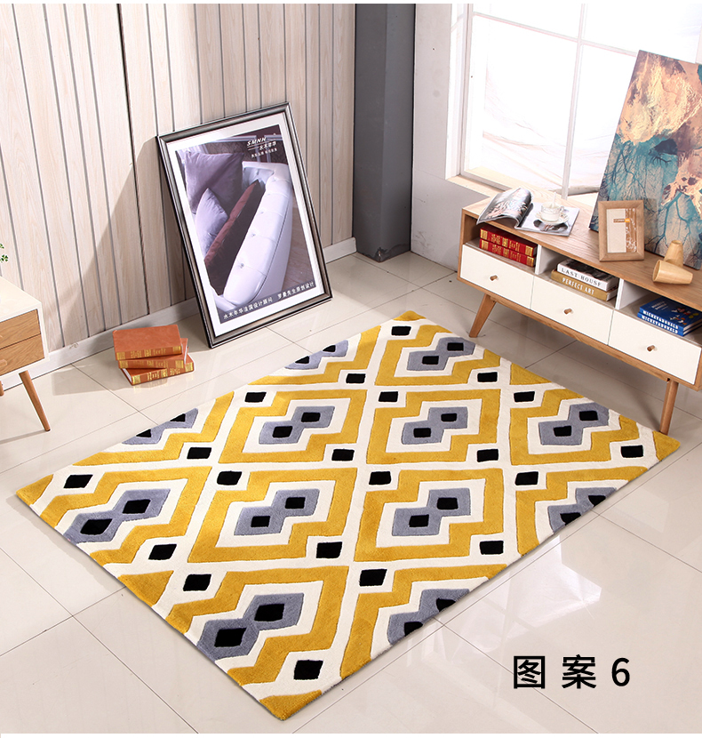 Personality geometric carpet living room coffee table sofa bedroom bedside window hand acrylic carpet customPersonality geometric carpet living room coffee table sofa bedroom bedside window hand acrylic carpet custom