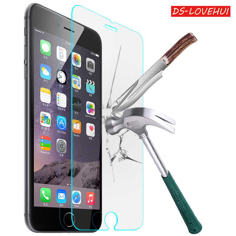 DS-LOVEHUI 2.5D Premium Tempered Glass Screen Protector For iPhone X 8 7 6 Plus 4 4s 5 5S 5C SE 6s plus HD Protective Film