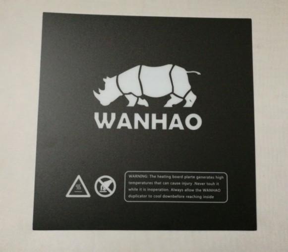 Prix pour 5 pcs * Wanhao Carré plaque chauffante construire plaque bande autocollant surface plaque pour Wanhao i3 Plus 3D Imprimante Carré 200/214/220mm