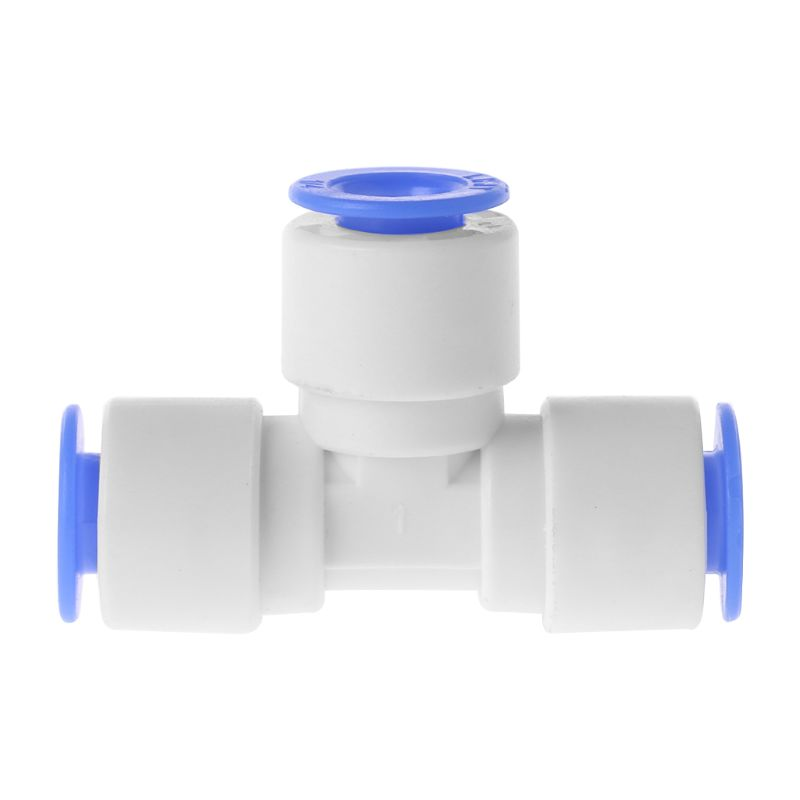 T Shape Water Purifier Quick Connector Two Point Tee Interface Tube FittingsT Shape Water Purifier Quick Connector Two Point Tee Interface Tube Fittings